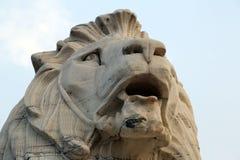 Lion statue at Victoria Memorial in Kolkata Royalty Free Stock Photo