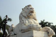 Lion Statue at Victoria Memorial, Kolkata Stock Photos