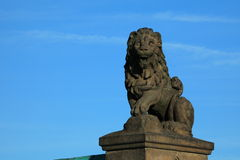 The Lion Statue of the Wartburg Castle Royalty Free Stock Photo