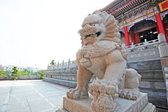 Lion Statue at Wat Leng Nei Yi Royalty Free Stock Photography