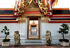 Lion Statue at Wat Pho bangkok thailand Royalty Free Stock Photos