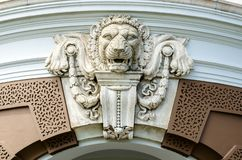 Lion statue in Wat phra kaew royalty free stock image