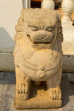 Lion statue at Wat tha Luang Temple, Phichit, Thailand royalty free stock image