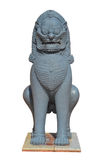 Lion Statue. On white background stock photography