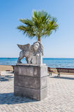 Lion statue with wings Royalty Free Stock Images