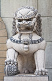 The lion statues. The lion statues that are potential to be Chinese stock images