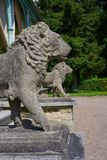 Lion statues detail in Josheps Cross at Stolberg Harz. Lion statues detail in Josepskreuz Joshep Cross at Stolberg Harz of Germany royalty free stock images