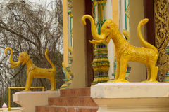 The Lion statues at Temple,Thailand. The Lion statues at Temple stock photo
