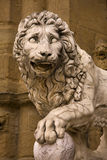 Lion statute in Florence Stock Photos