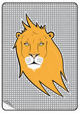 Lion sticker Stock Images