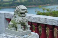 Lion stone carving Stock Images