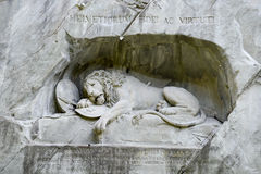 Lion stone monument at Luzern, Switzerland Stock Photo