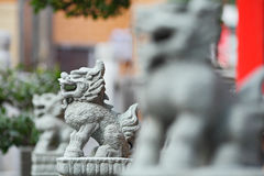 Lion stone statue Stock Image