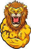Lion strong mascot stock illustration