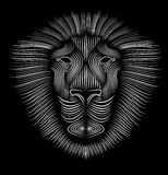 Lion. Stylized head of a lion, which represents the force Royalty Free Stock Photography