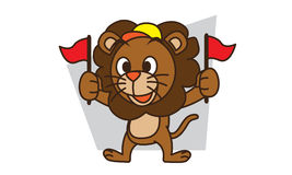 Lion Supporter Royalty Free Stock Photo