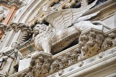 Lion sur la basilique de St Mark Photo libre de droits