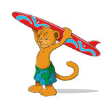 Lion surfer Stock Images