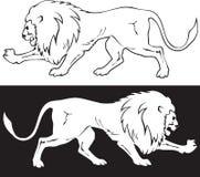 Lion Symbol Royaltyfria Bilder