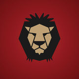 Lion symbol. Color abstract illustration Royalty Free Stock Images