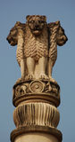 Lion symbol of India. The three headed lion - India's national symbol.  The figure is derived from the Sarnath Lion Capital of Emperor Ashoka who ruled from 272 Stock Images