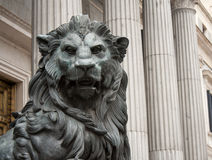 Lion symbol madrid Royalty Free Stock Photo
