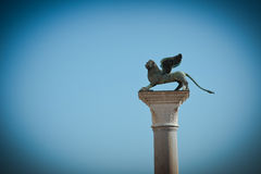 Lion, symbol of Venice. Royalty Free Stock Images