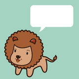 Lion talk Royalty Free Stock Photo