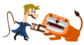 Lion tamer Stock Image