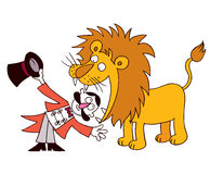 Lion Tamer Stock Foto