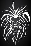 Lion tatto Stock Photography