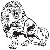 Lion tattoo Stock Image