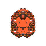 Lion tattoo. Mane ornament. Leo tattooing. wild animal Royalty Free Stock Images