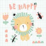 Lion tendre illustration stock