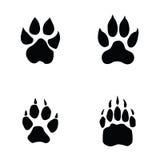 Lion, tiger, wolf, bear footprint Stock Photo