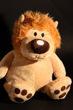 Lion toy. Portrait of a lion puppy toy Stock Photos