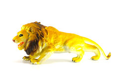 Lion toy isolated on white Stock Photo