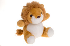 Lion toy. On white background Stock Photography