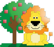 Lion and tree Royalty Free Stock Photo