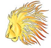 Lion tribal illustration stock