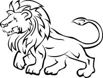 Lion tribal tattoo. Vector illustration of lion tribal tattoo Royalty Free Stock Image