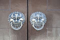 Lion-type knocker Stock Photography