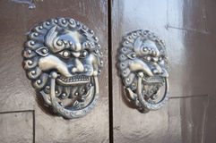Lion-type knocker Royalty Free Stock Photos