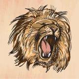 Lion - un vecteur tiré par la main illustration de vecteur
