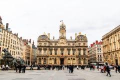 Lion urząd miasta, Lion stary miasteczko, Francja Obrazy Royalty Free
