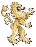 Lion vector. Coat of arms - golden lion vector Royalty Free Stock Images