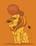 Lion Vector,Fashion hairstyle Stock Photo