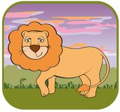 Lion vector hand drawn Royalty Free Stock Images