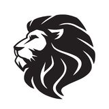 Lion Vector Icon Logo Template sauvage Image libre de droits