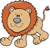 Lion Vector Illustration. Cute Wild Lion Vector Illustration Royalty Free Stock Photos